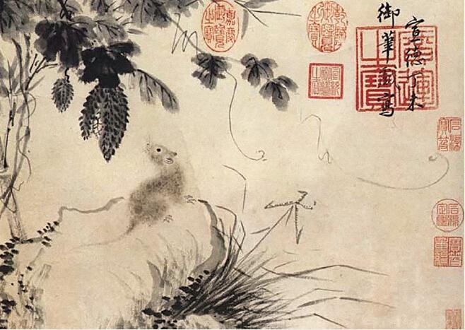 《苦瓜鼠图》,藏于北京故宫博物院