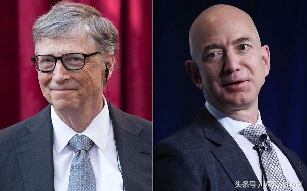 贝索斯和比尔盖茨财富差距又大了,网友:流水的首富,铁打的盖茨